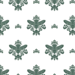 Royal Bumble Bee in Green and White