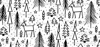 Winter Wonderland - White & Black