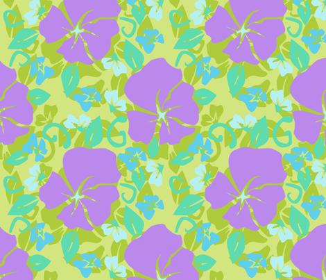 Flora of Neverland fabric by majoranthegeek on Spoonflower - custom fabric