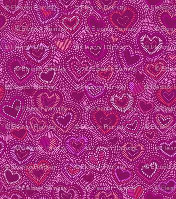 Needlepoint Hearts