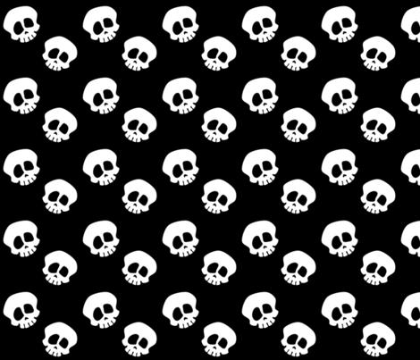 Skull_02 fabric by boy1da on Spoonflower - custom fabric