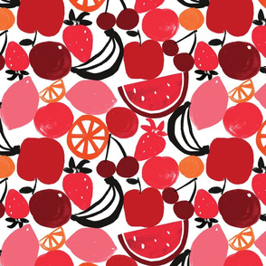 FRUIT WALL black/red