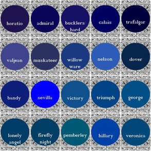 Peacoquette Designs Palette ~ Dark Blues
