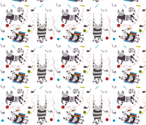 While my owners away! fabric by floramoon on Spoonflower - custom fabric
