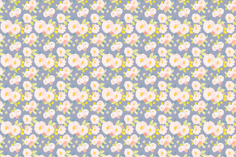 Indy Bloom Design Lilac Berry Blossoms fabric by indybloomdesign on Spoonflower - custom fabric