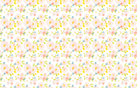 Indy Bloom Design Blueberries n Blossoms fabric by indybloomdesign on Spoonflower - custom fabric
