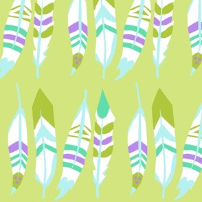 Indian Feathers (Light Green)
