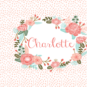 charlotte - personalized name in floral wreath - 1 FQ