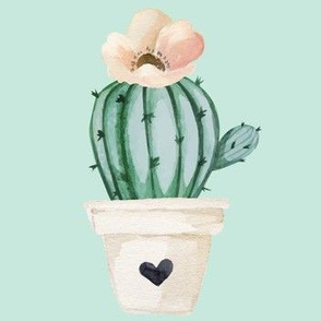 Brand New Day Cactus - Bright Pastel Blue