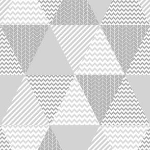 grey cheater triangle quilt