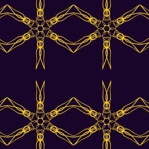 Chains of Goldwork on Midnight Blue