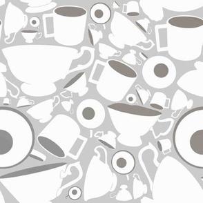 Teacups, grey