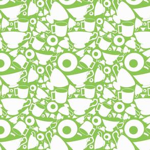Teacups, green