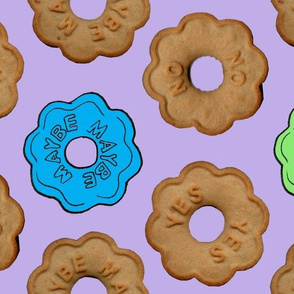 Yes, No, Maybe Cookie - Purple
