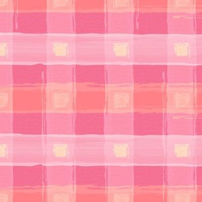 Watercolor Pink Plaid LRG