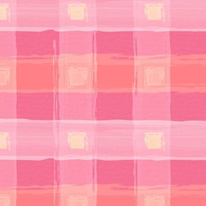 Watercolor Pink Plaid XL