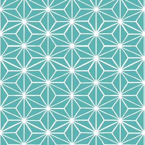 Star Tile Marine Green fabric by thistleandfox on Spoonflower - custom fabric