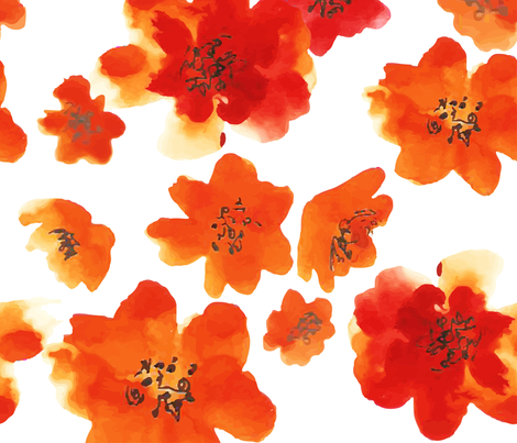 Watercolor flowers  fabric by nadiia_nemchenko on Spoonflower - custom fabric