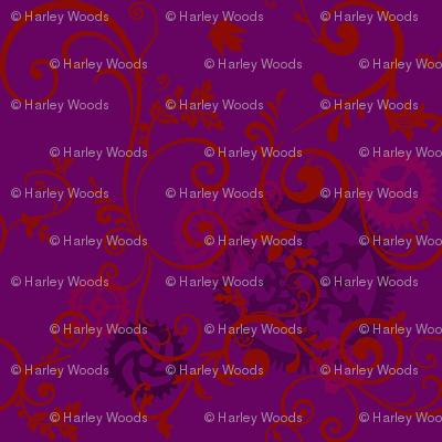 Red Vine On Purple Steampunk