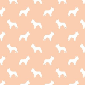 boston terrier silhouette fabric dog silhouette design - apricot