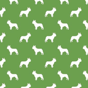 boston terrier silhouette fabric dog silhouette design - asparagus