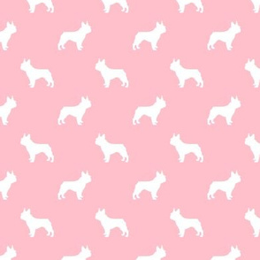 boston terrier silhouette fabric dog silhouette design - blossom