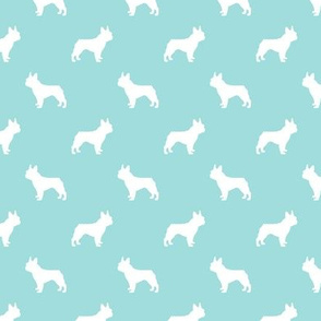 boston terrier silhouette fabric dog silhouette design - blue tint