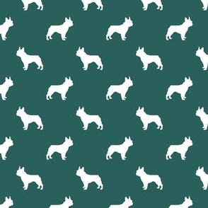 boston terrier silhouette fabric dog silhouette design - eden green