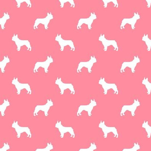 boston terrier silhouette fabric dog silhouette design - flamingo pink