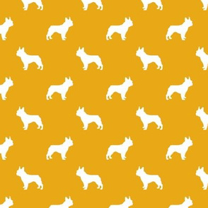 boston terrier silhouette fabric dog silhouette design - goldenrod