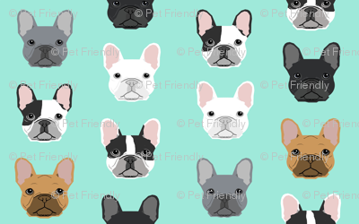 mini french bulldogs print cute frenchies french bulldog design cute dogs best frenchies fabric