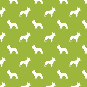 boston terrier silhouette fabric dog silhouette design - lime green