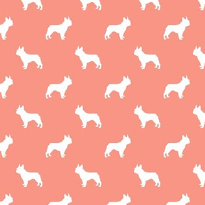 boston terrier silhouette fabric dog silhouette design - peach
