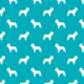 boston terrier silhouette fabric dog silhouette design - peacock