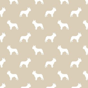 boston terrier silhouette fabric dog silhouette design - sand