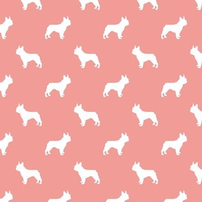 boston terrier silhouette fabric dog silhouette design - sweet pink