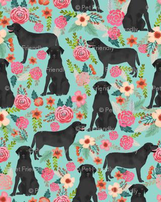 black lab florals fabric labrador retriever floral fabric