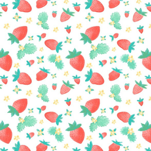 Watercolor Summer Strawberries