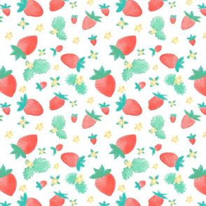 Watercolor Summer Strawberries