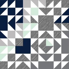 into the wild puzzle wholecloth // diagonal stripes