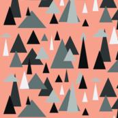 Grey triangle landscape-coral