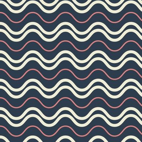 Waves in Nautical Colors
