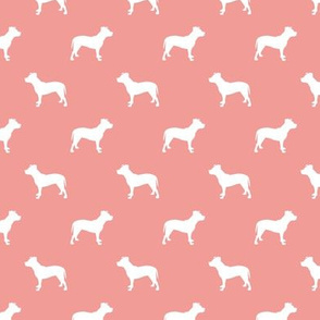 pitbull silhouette fabric dog dogs fabric - sweet pink