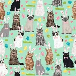 cats kitty cat pastel easter bunny cute pink easter eggs design