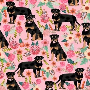 rottweiler floral dog fabric rottweilers dog design