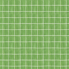Grid, green and cream