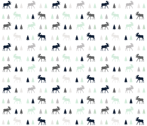 into the wild moose trot fabric by ivieclothco on Spoonflower - custom fabric
