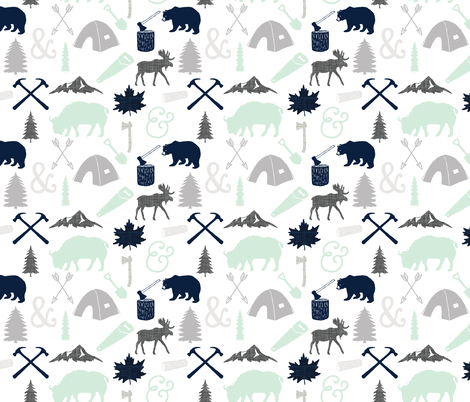 woodcutter // into the wild fabric by ivieclothco on Spoonflower - custom fabric