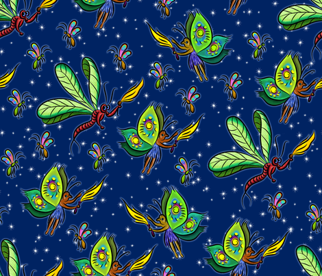 Fairy Night fabric by enid_a on Spoonflower - custom fabric