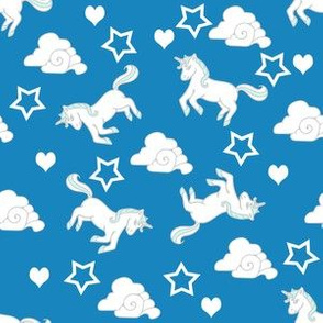 Unicorns Stars Hearts and Clouds, Always be Yourself...Unless You Can be a Unicorn